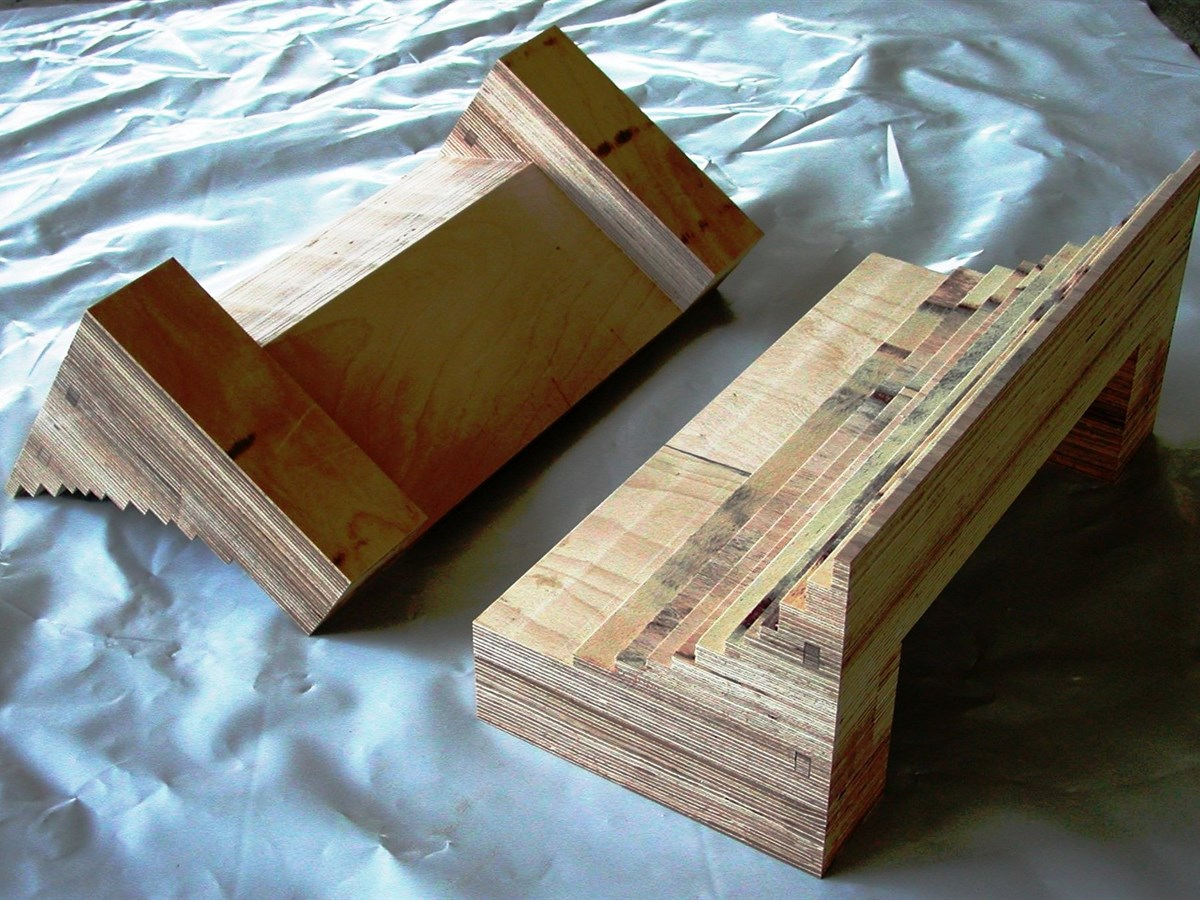 Insulating components in laminated wood